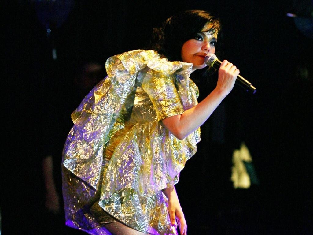 A cantora islandesa Björk (Bjork) durante show do Tim Festival 2007, na Marina da Glória, no Rio de Janeiro, RJ (26/10/2007)