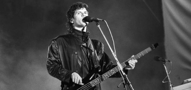 O cantor Paulo Ricardo durante show da banda RPM. (22.01.1987)
