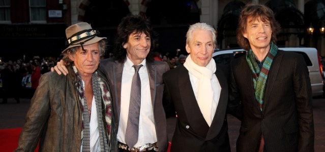 Os integrantes do Rolling Stones em Londres, Inglaterra (02/04/2008)