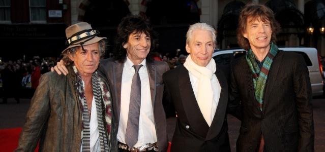 Os integrantes do Rolling Stones em Londres, Inglaterra (02/04/2008)