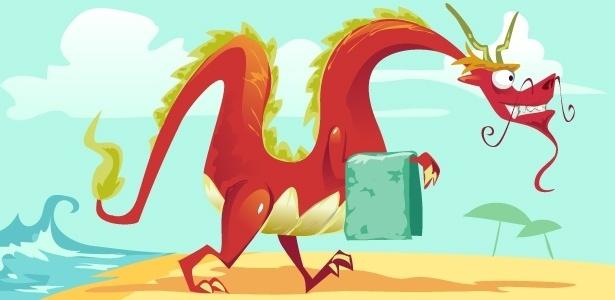 O dragão com a toalha no braço da letra errada de Menino do Rio