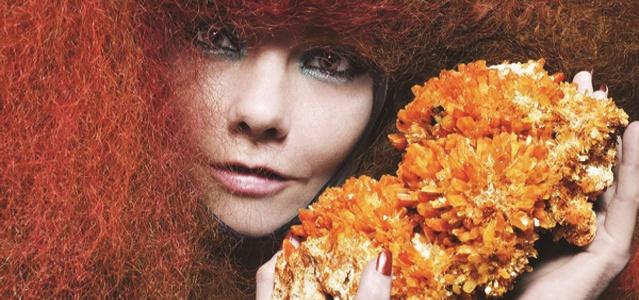 A cantora islandesa Björk em imagem de divulgação do álbum