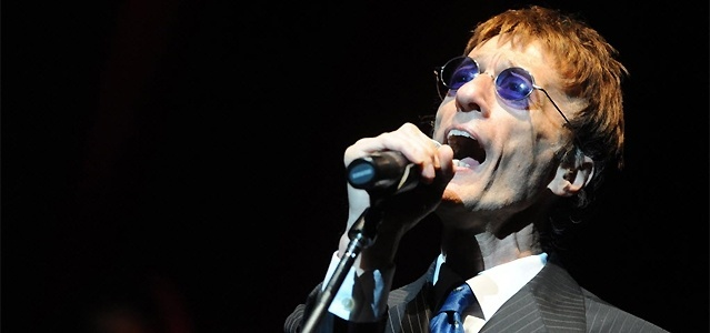 O músico Robin Gibb, ex-integrante do grupo Bee Gees
