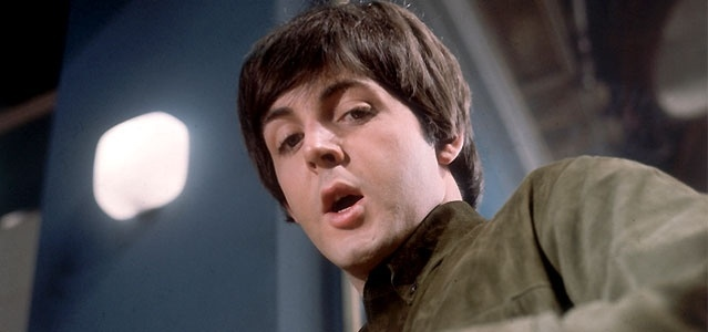 Paul McCartney em cena do filme