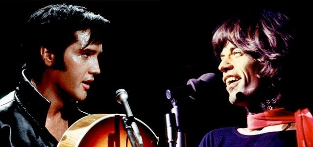 Elvis Presley e Mick Jagger