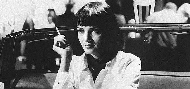 A atriz Uma Thurman em cena do filme Pulp Fiction