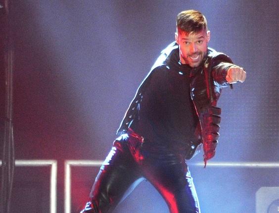 Ricky Martin em show realizado em Nova Jersey, EUA (16/04/2011)