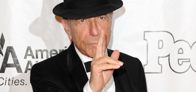 Leonard Cohen em evento em Nova York (17/06/2010)