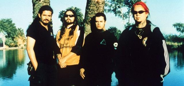 A banda Sepultura em sua formação clássica