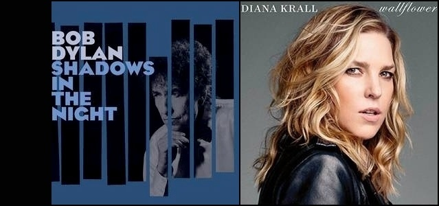 Capas de Bob Dylan e Diana Krall